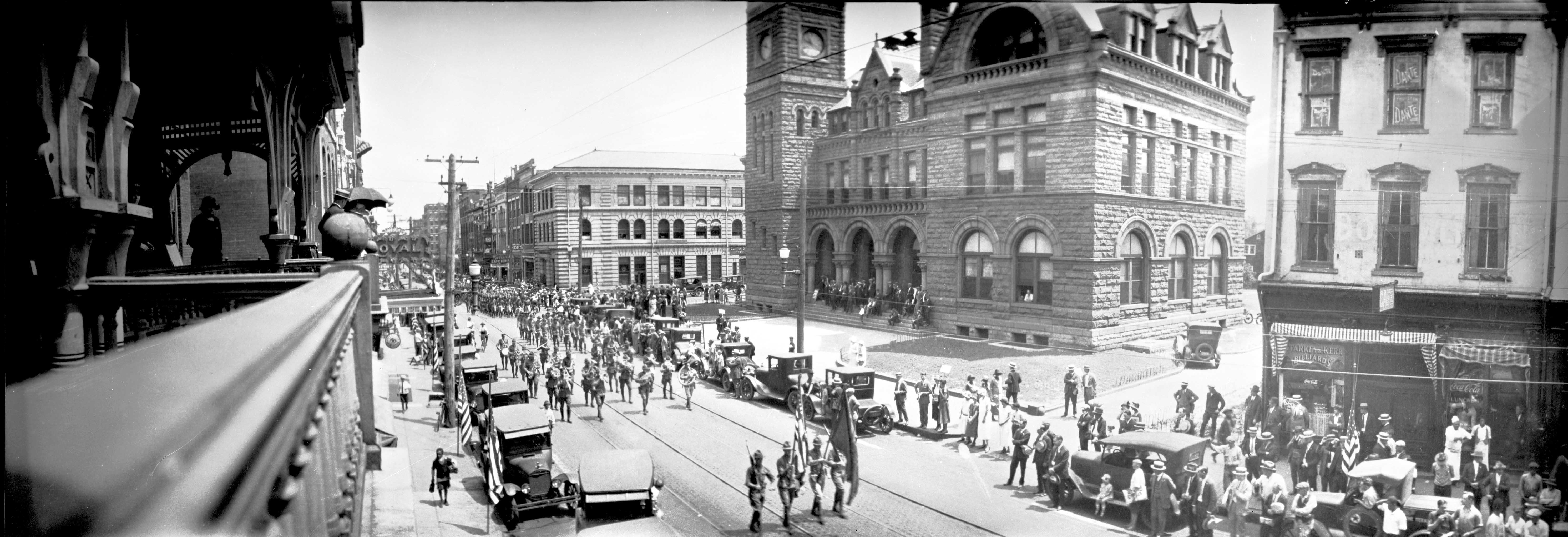 The Subject Of This Photograph Is A Decoration Day Parade, But The  Architecture Also Is Fascinating. The Romanesque Style U. S. Post Office  Building On The ...